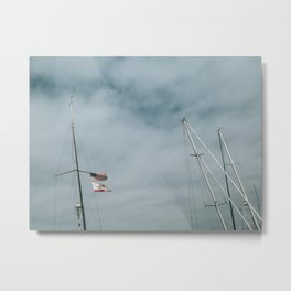 Mast and Flags Metal Print
