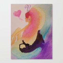Rainbow Fairy Girl Canvas Print