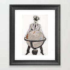 Charles chaplin the great dictator Framed Art Print