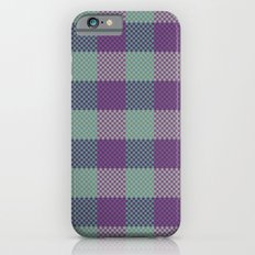 Pixel Plaid - Dark Seas iPhone 6s Slim Case