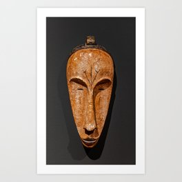 african Fang Ngil wooden mask Art Print