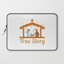 Cute Jesus Christ Priest Quote Christmas Xmas Gift Laptop Sleeve