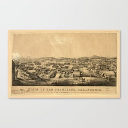 View of San Francisco, California: taken from Telegraph Hill, April 1850 Canvas Print