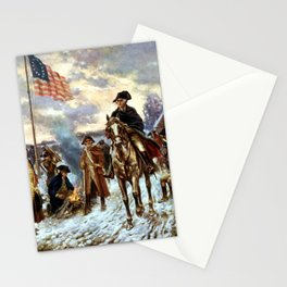 Washington At Valley Forge Stationery Cards