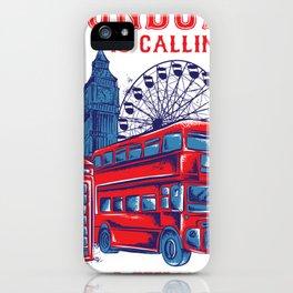 London calling shirt travel vintage England iPhone Case