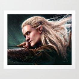 Elven Prince of Mirkwood Art Print