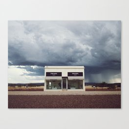 Summer storm | Marfa, Texas Canvas Print
