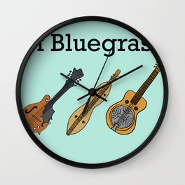 The ABCs of Bluegrass Wall Clock