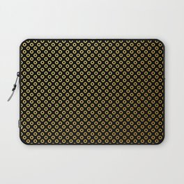 Black and gold dots design Laptop Sleeve