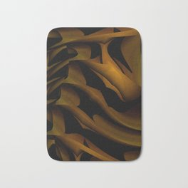 Carved In Wood Bath Mat