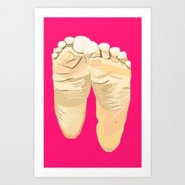 FEET I (Pink) Art Print