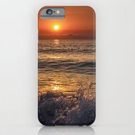 Sea Force. Red Sunrise iPhone Case