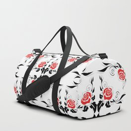 Roses background Duffle Bag