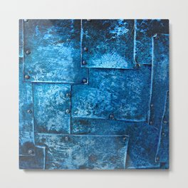 Blue Metal Plates Metal Print