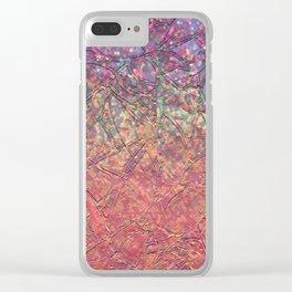 Sparkley Grunge Relief Background G179 Clear iPhone Case
