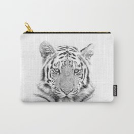 Black and white tiger Carry-All Pouch