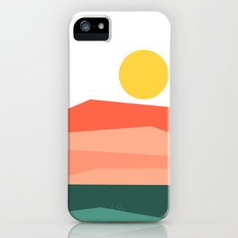 Abstract Landscape 09 Red iPhone Case