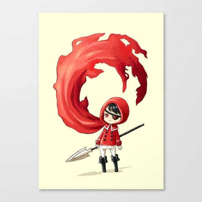 Red Cape Canvas Print