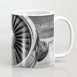 Vintage Airplane Turbine Engine Black and White Photography / black and white photographs Coffee Mug