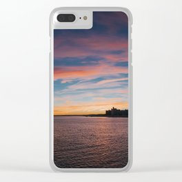 Coney Island Sunset Clear iPhone Case