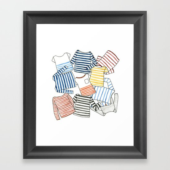 La Marinière Framed Art Print