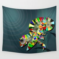 portal Wall Tapestries featuring Time Portal by milanova