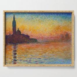 San Giorgio Maggiore by Twilight by Claude Monet Serving Tray