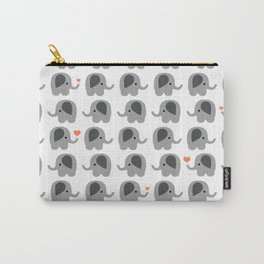 Orange elephants Carry-All Pouch
