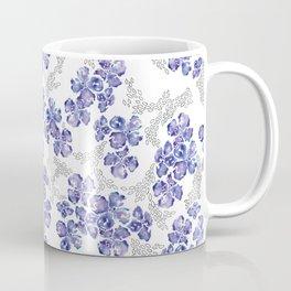 Hydrangea Blooms in Purple Coffee Mug