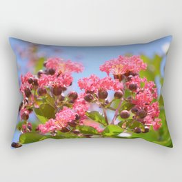 Blooming Pink Crepe Myrtle Flowers Rectangular Pillow