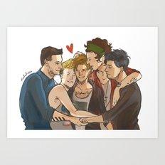Everyone Loves Louis Art Print