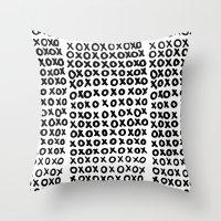 xoxo Throw Pillows featuring XOXO by Geryes