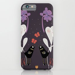 Two Good Friends Talk Into The Night. iPhone Case
