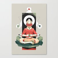 aang Canvas Prints featuring Aang Meditating by JC Franco