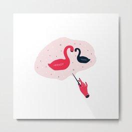 Patronus- Black Swan Metal Print