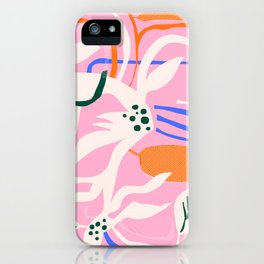 Night Garden // Abstract Shapes Print iPhone Case