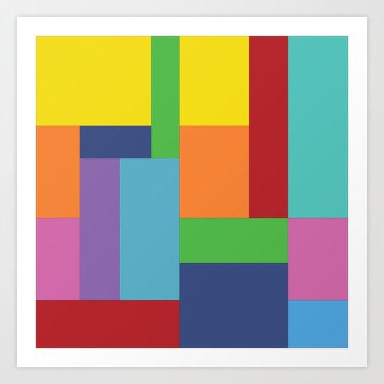 Multicolor square Art Print