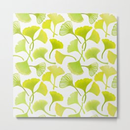 First Day of Autumn Ginkgo Leaves Metal Print