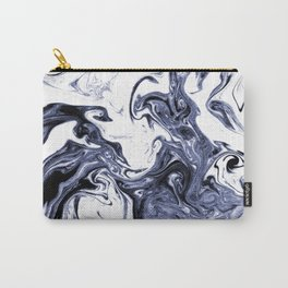 Marble Suminagashi watercolor pattern art pisces water wave ocean minimal design Carry-All Pouch