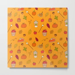 Festively Fall Metal Print