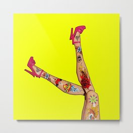 Great Legs, Great Shoes, Great Tattoos! Metal Print