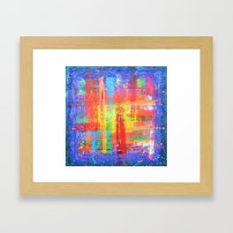 I have found my joy - prophetic art abstract expressionism rainbow colourful braille contemporary Framed Art Print