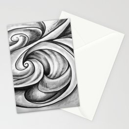Swirl (Gray) Stationery Cards