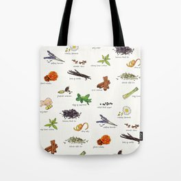 Tea Ingredients Medley Tote Bag