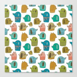 Pattern Project #30 / Dogs Canvas Print