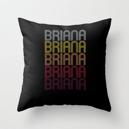 Briana Name Gift Personalized First Name Throw Pillow