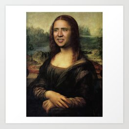Nicholas Cage Mona Lisa face swap Art Print