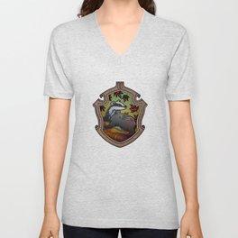 Hogwarts House Crest - Hufflepuff Unisex V-Neck