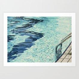 Summertime swimming Art Print