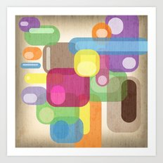 Retro Make'a Me Smile.  Art Print